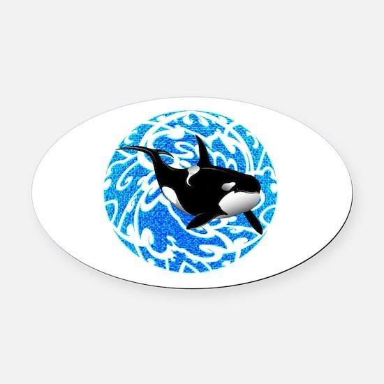ORCA Oval Car Magnet