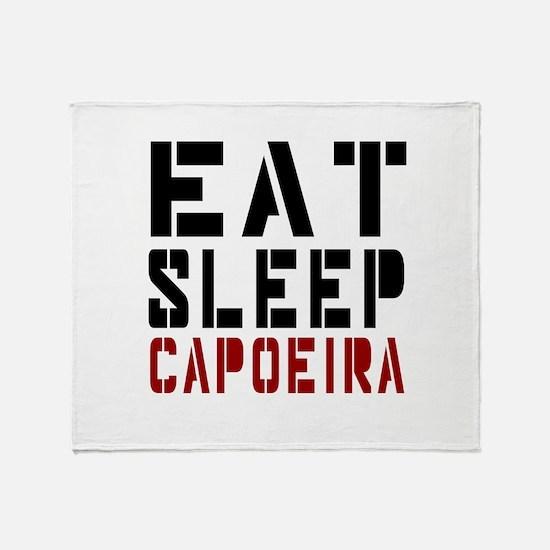 Eat Sleep Capoeira Throw Blanket