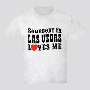Somebody In Las Vegas Loves Me Kids Light T-Shirt