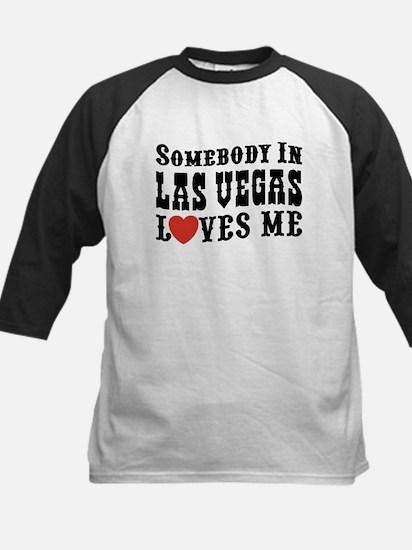 Somebody In Las Vegas Loves M Kids Baseball Jersey