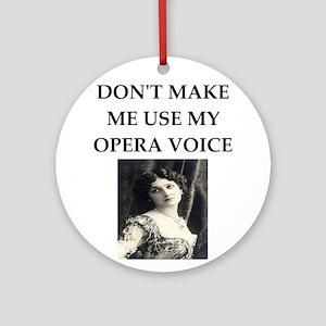 opera voice Round Ornament