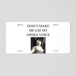 opera voice Aluminum License Plate