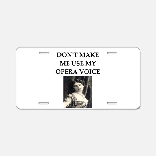 opera voice Aluminum License Plate