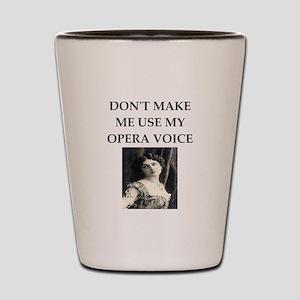 opera voice Shot Glass