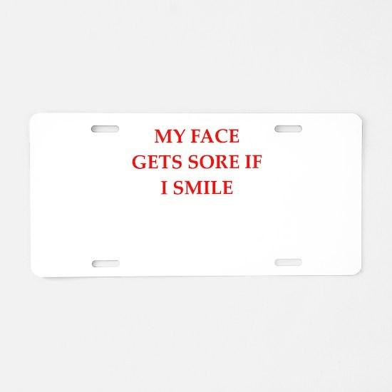 gumpy Aluminum License Plate