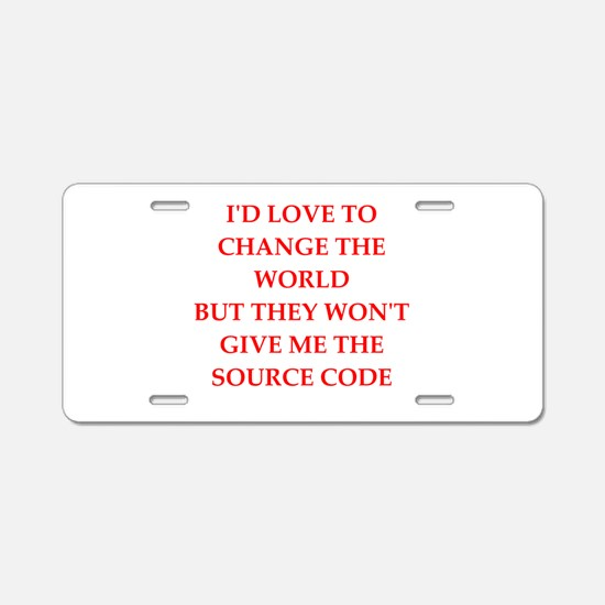 source Aluminum License Plate
