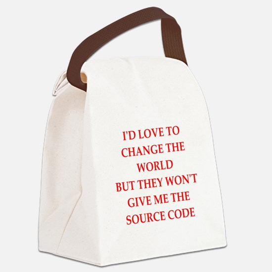 source Canvas Lunch Bag
