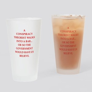 conspiracy Drinking Glass
