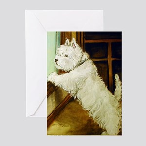 Waiting Westie Greeting Cards (Pk of 10)