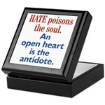 Hate Poisons the Soul Keepsake Box