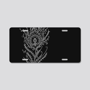 Elegant Feather Aluminum License Plate
