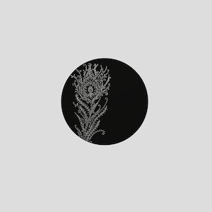Elegant Feather Mini Button