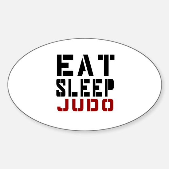 Eat Sleep Judo Sticker (Oval)