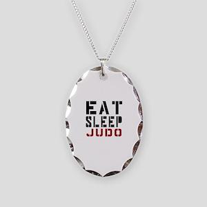 Eat Sleep Judo Necklace Oval Charm