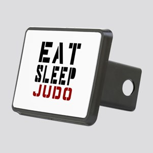 Eat Sleep Judo Rectangular Hitch Cover