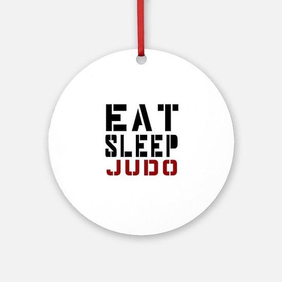 Eat Sleep Judo Round Ornament