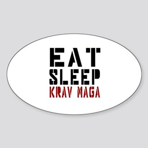 Eat Sleep Krav Maga Sticker (Oval)