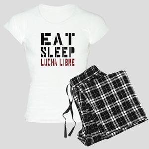 Eat Sleep Lucha Libre Women's Light Pajamas