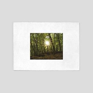 sun between woods 5'x7'Area Rug