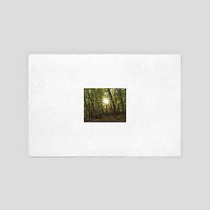 sun between woods 4' x 6' Rug