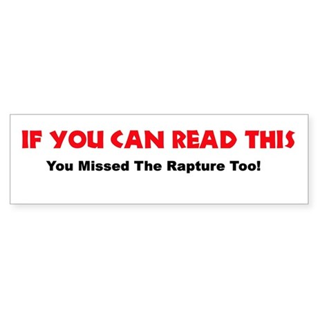 You Missed the Rapture!
