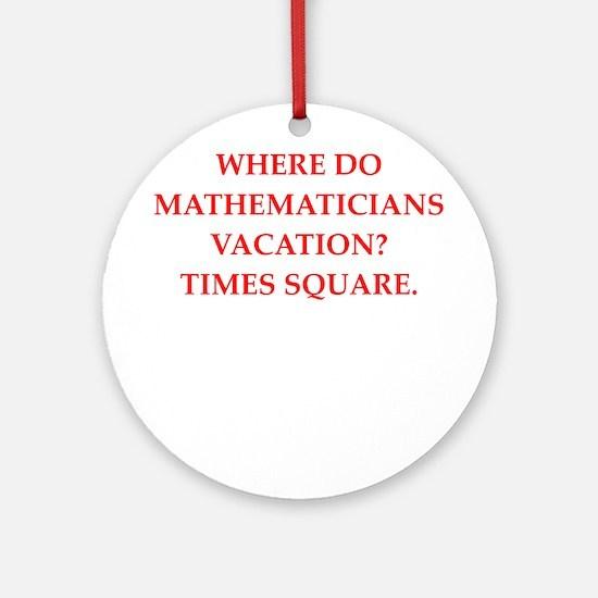 mathematics Round Ornament