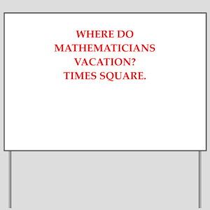 mathematics Yard Sign
