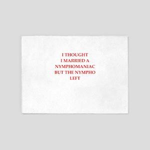 nympho 5'x7'Area Rug