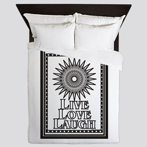 Color Me Live Love Laugh Queen Duvet