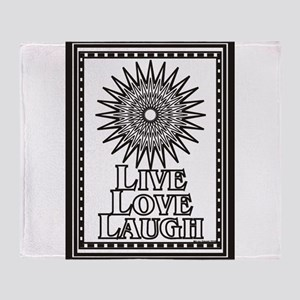 Color Me Live Love Laugh Throw Blanket