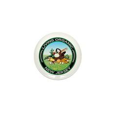 Living Organic New Jersey Mini Button (10 pack)