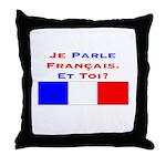 Je parle français/Throw Pillow