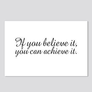 Believe it and Achieve It Postcards (Package of 8)