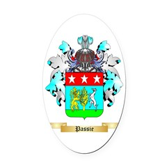 Passie Oval Car Magnet