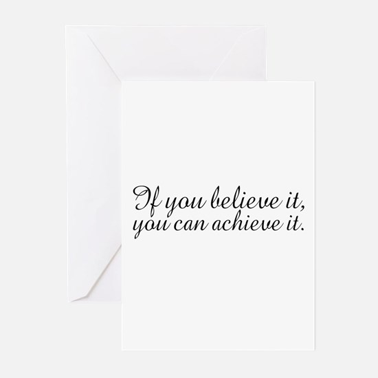 Believe it and Achieve It Greeting Cards (Pk of 10