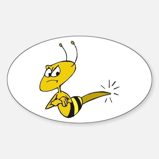 Funny Angry Bee Comics Decal