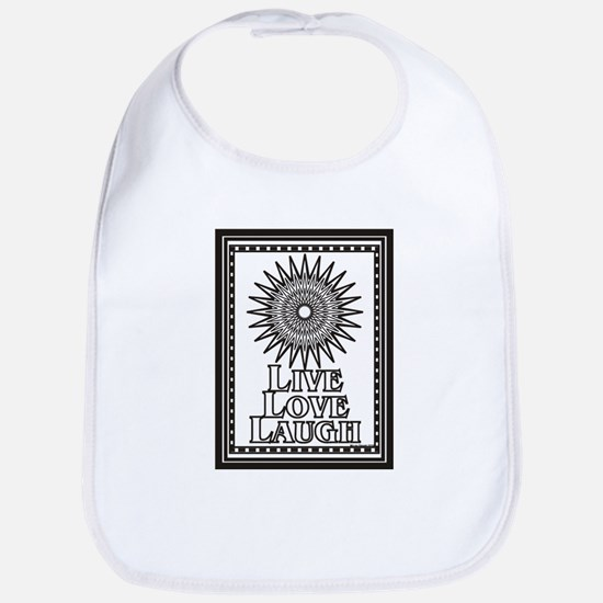 Color Me Live Love Laugh Bib