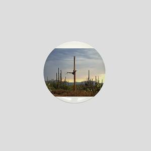 Tucson Saguaro at Sunset Mini Button