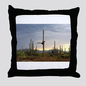 Tucson Saguaro at Sunset Throw Pillow