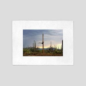 Tucson Saguaro at Sunset 5'x7'Area Rug