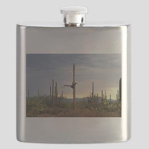 Tucson Saguaro at Sunset Flask