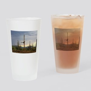 Tucson Saguaro at Sunset Drinking Glass