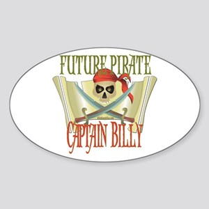 Future Pirates Oval Sticker