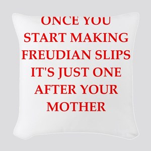 freud Woven Throw Pillow