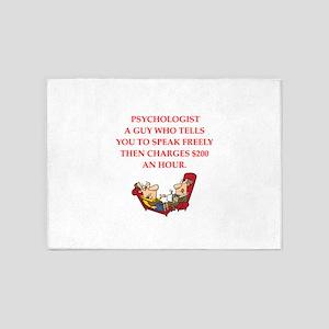psychology 5'x7'Area Rug