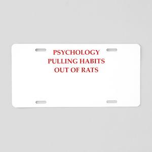 psychology Aluminum License Plate