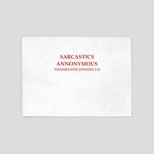 sarcastic 5'x7'Area Rug