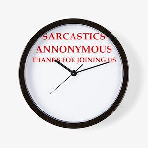 sarcastic Wall Clock