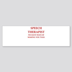 speech therapist Bumper Sticker
