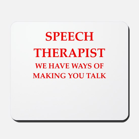 speech therapist Mousepad